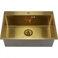 Мойка для кухни Melana ProfLine 6545 золото, врезная D6545HG