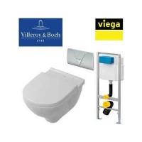 Готовое решение:Унитаз подвесной безободковый Villeroy & Boch O.NOVO 5660 HR01 + Viega 673192