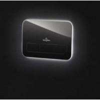 Клавиша смыва с Led подсветкой Villeroy & Boch L200 9218 43RB (чёрное стекло)