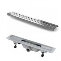 Дренажный канал с матовой решеткой 400мм Vicario DP-400-DS1