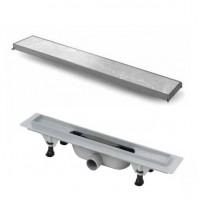 Дренажный канал с лотком для укладки плитки 400мм Vicario DP-400-DS3