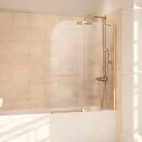 Шторка для ванны 110см Huppe Studio Victorian SV1001 093 322 прозрачное/золото