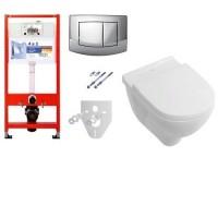 Комплект инсталяции Tece base 9400005 и унитаза безободковый Villeroy & Boch O.novo 5660HR01