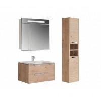 Комплект мебели с зеркальным шкафчиком 80см Roca Lago 857296444 светлый дуб