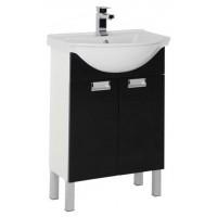 Тумба под раковину напольная для ванной комнаты Aquanet Адель 60 черный 00185769