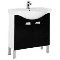 Тумба с раковиной (комплект) напольная для ванной комнаты Aquanet Адель 80 черный 00185773-c