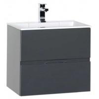 Тумба навесная под раковину для ванной комнаты Aquanet Алвита 60 серый антрацит 00183991