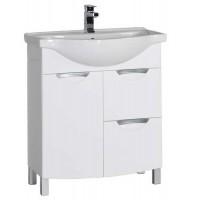 Тумба напольная под раковину для ванной комнаты Aquanet Асти 75 белый 00177785