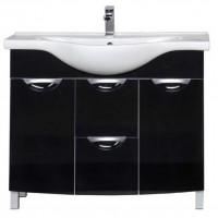 Тумба напольная под раковину для ванной комнаты Aquanet Асти 105 черный 00178240