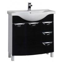 Тумба напольная с раковиной (комплект) для ванной комнаты Aquanet Асти 85 черный 00178243-c