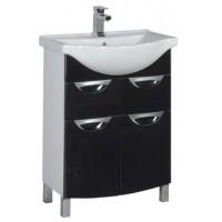 Тумба напольная под раковину для ванной комнаты Aquanet Асти 65 черный 00178255