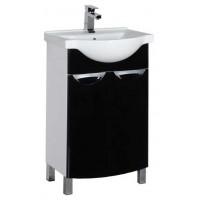 Тумба напольная с раковиной (комплект) для ванной комнаты Aquanet Асти 55 черный 00178261-c