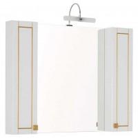 Зеркало-шкаф Aquanet Честер 105 белый/золото 00186084