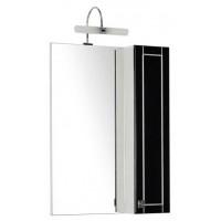 Зеркало-шкаф Aquanet Честер 60 черный/серебро 00186089