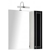 Зеркало-шкаф Aquanet Честер 75 черный/серебро 00186092