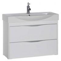 Тумба подвесная с раковиной для ванной комнаты Aquanet Франка 85 белый 00183053