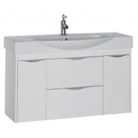 Тумба подвесная с раковиной для ванной комнаты Aquanet Франка 105 белый 00183055
