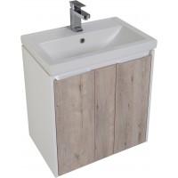 Тумба подвесная с раковиной (комплект) для ванной комнаты Aquanet Клио 60 дуб кантри 00195719-c