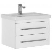 Тумба с раковиной (комплект) Aquanet Сиена 60 подвесная два ящика белый для ванной комнаты 00186359-c