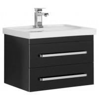 Тумба под раковину Aquanet Сиена 60 подвесная два ящика черный для ванной комнаты 00189235