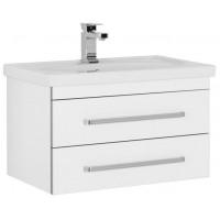 Тумба под раковину Aquanet Сиена 70 подвесная два ящика белый для ванной комнаты 00186361