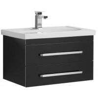Тумба под раковину Aquanet Сиена 70 подвесная два ящика черный для ванной комнаты 00189226