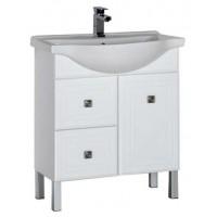 Тумба с раковиной для ванной комнаты напольная Aquanet Стайл 75 белый 00181499
