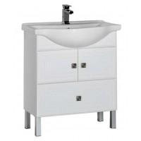 Тумба с раковиной для ванной комнаты напольная Aquanet Стайл 75 белый 00181500