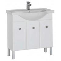 Тумба с раковиной для ванной комнаты напольная Aquanet Стайл 85 белый 00181501