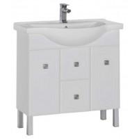 Тумба с раковиной для ванной комнаты напольная Aquanet Стайл 85 белый 00181502