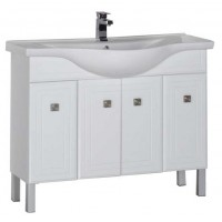Тумба с раковиной для ванной комнаты напольная Aquanet Стайл 105 белый 00181503