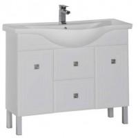 Тумба с раковиной для ванной комнаты напольная Aquanet Стайл 105 белый 00181504