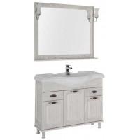 Комплект мебели для ванной комнаты Aquanet Тесса 105 жасмин/серебро 00186378