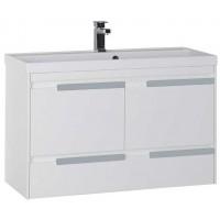 Тумба с раковиной для ванной комнаты Aquanet Тиволи 100 см белый 00180057