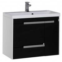 Тумба с раковиной для ванной комнаты Aquanet Тиволи 80 см черный 00180065