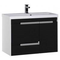 Тумба с раковиной для ванной комнаты Aquanet Тиволи 90 см черный 00180066