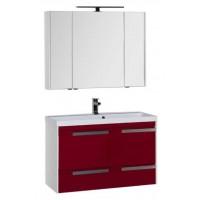 Комплект мебели для ванной комнаты Aquanet Тиволи 100 см бордо 00180562