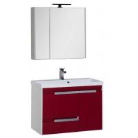 Комплект мебели для ванной комнаты Aquanet Тиволи 80 см бордо 00180565