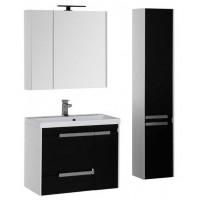 Комплект мебели для ванной комнаты Aquanet Тиволи 80 см черный 00180570