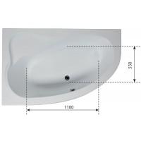 Ванна акриловая Aquanet Luna 155х100 левая
