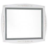 Зеркало с встроенным светильником для ванной комнаты Aquanet Виктория 90 белый/золото 00183926