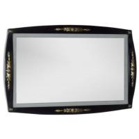 Зеркало с встроенным светильником для ванной комнаты Aquanet Виктория 120 черный/золото 00183927