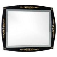 Зеркало с встроенным светильником для ванной комнаты Aquanet Виктория 90 черный/золото 00183928