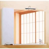 Панель Aqwella Лайн 105 с зеркалом, светильником и шкафчиком белый, Li.02.10