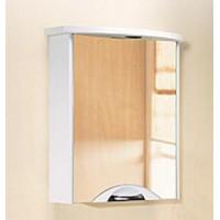 Шкаф-зеркало Aqwella Ультра Люкс 65 с подсветкой белый, Ul-l.04.06.G