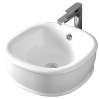 Раковина накладная для ванной комнаты, белая глянцевая Artceram AZULEY AZL001 01;00