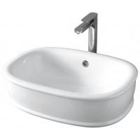 Раковина накладная для ванной комнаты, белая глянцевая Artceram AZULEY AZL002 01; 00