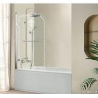 Шторка на ванну Cezares RETRO-V-1-80/145-CP-Cr