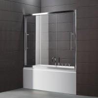 Шторка для ванны 190 см Cezares TRIO-V-22-190/145-C-Cr