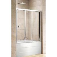 Шторка для ванны FAMILY-V-3-150/140-C-Cr-M